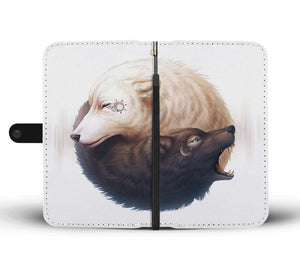 YinYang Wolf by JojoesArt Wallet Phone Case