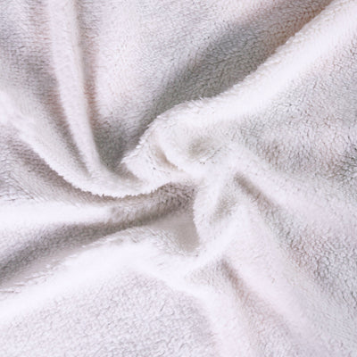 Skull Feather White Sherpa Blanket