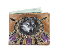 Load image into Gallery viewer, Dreamcatcher Wolf Wallet by JPart