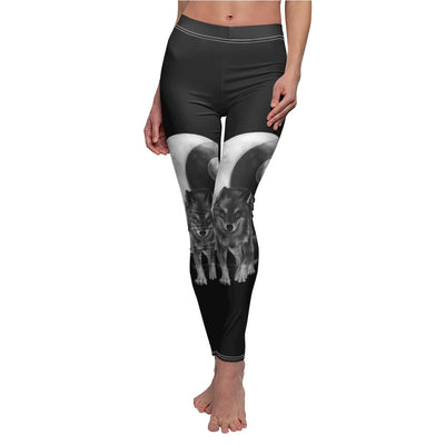 Luna Moon Wolf All Over Print Leggings