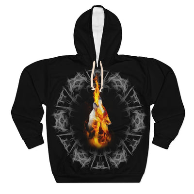 Fire Blazing All Over Print Hoodie