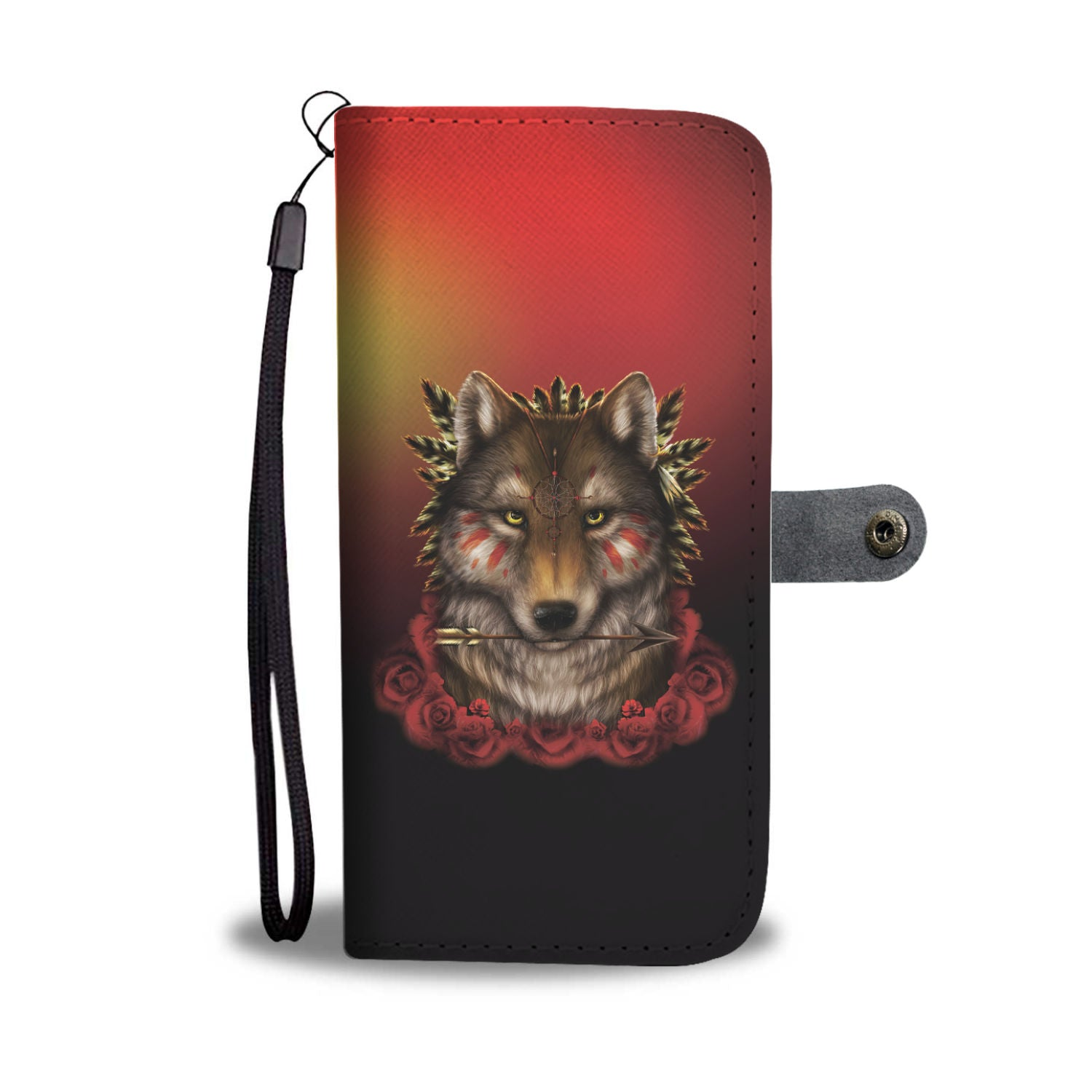 Khalia's Wolf Warrior Wallet Phone Case