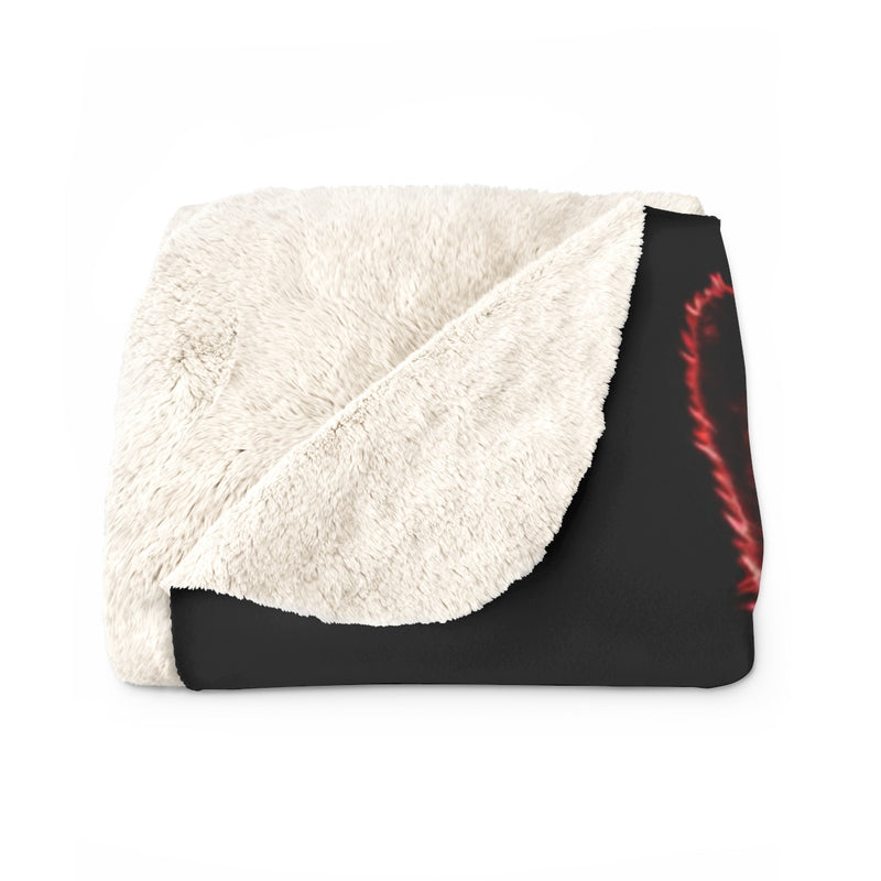 Brilliance Red Sherpa Fleece Blanket