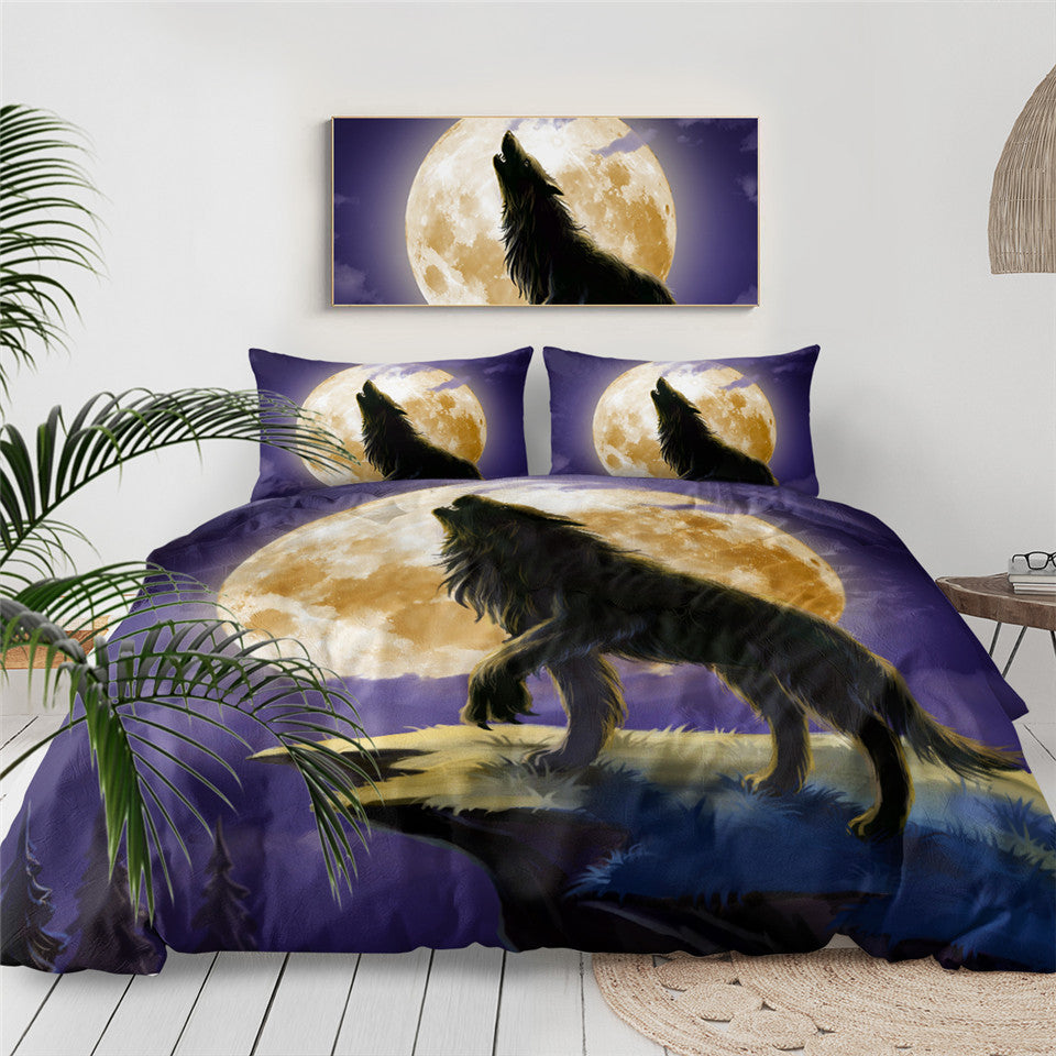 SWBJ2031 Wolf Bedding Set