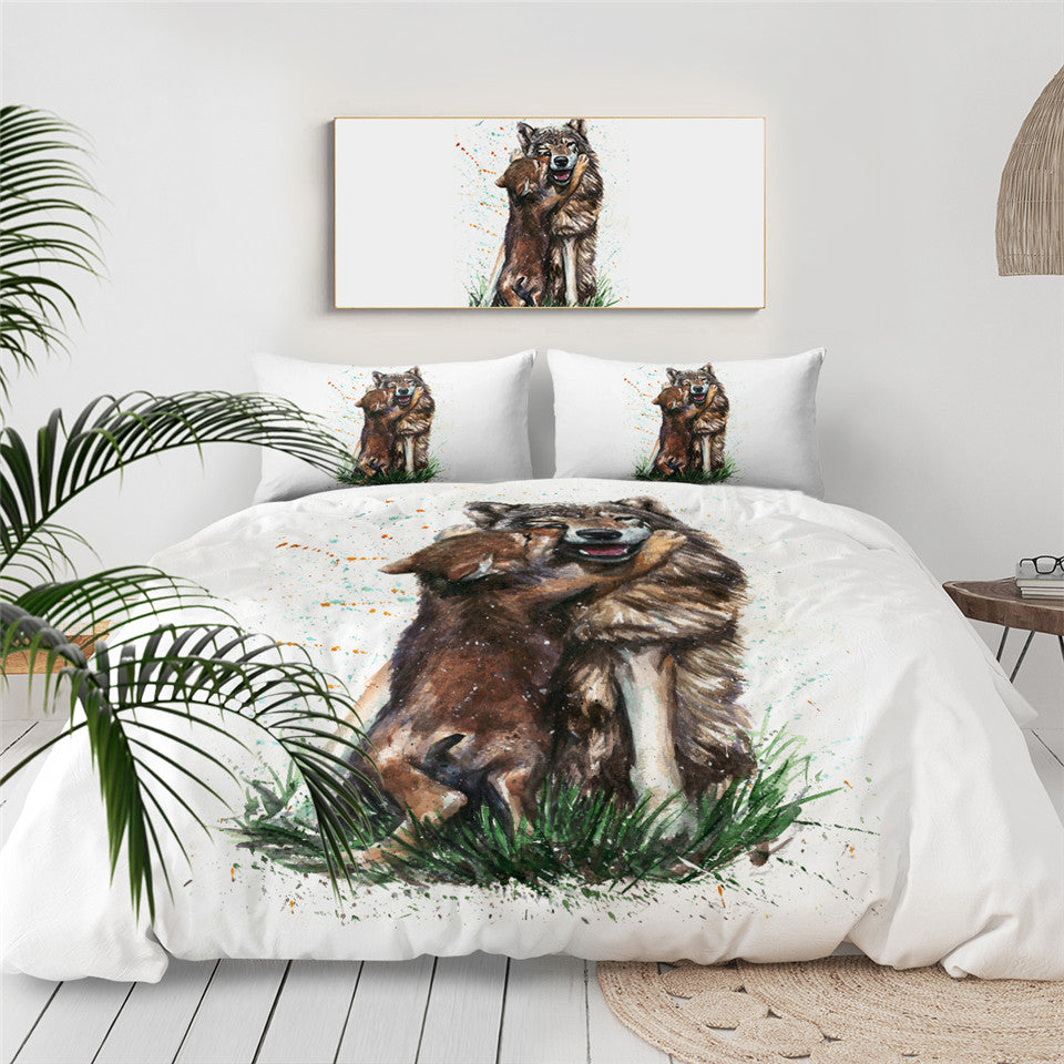 SWBJ2081 Wolf Bedding Set