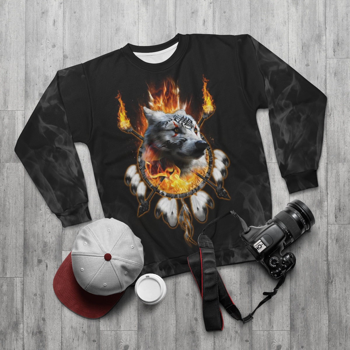 Fire Nation Chief Dark All Over Print Sweatshirt