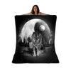 Luna Moon Wolf Sherpa Fleece Blanket