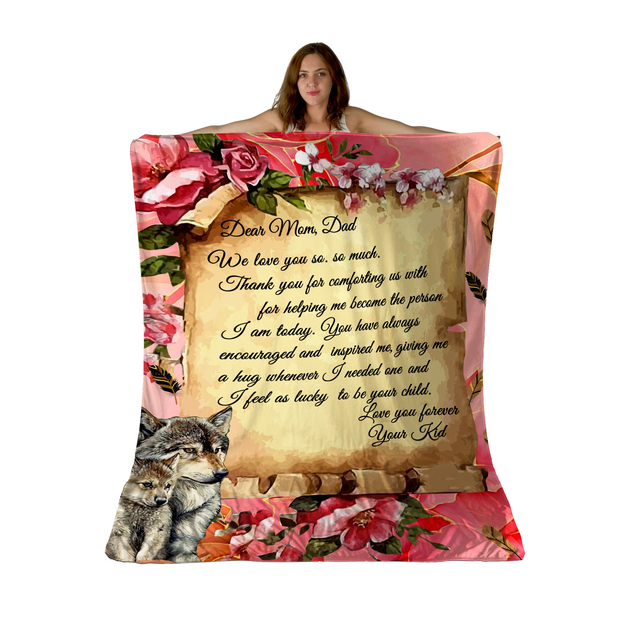 Letter To Mom and Dad ver2 Sherpa Fleece Blanket