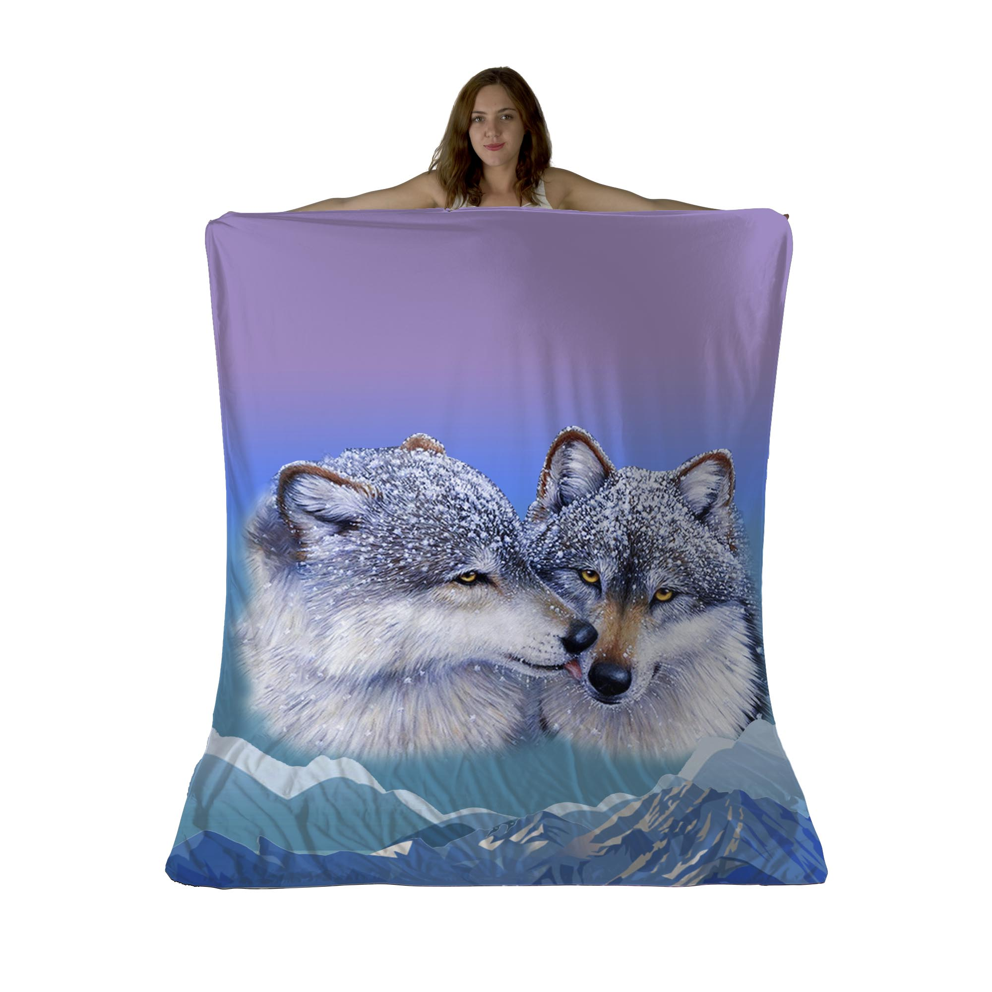 Wolf's Kiss Sherpa Fleece Blanket