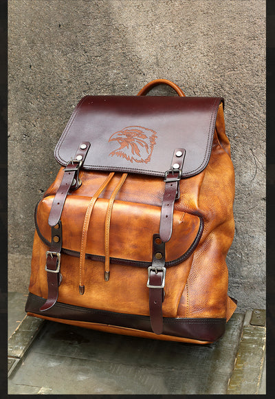 Sky Conquerer Leather Back Pack