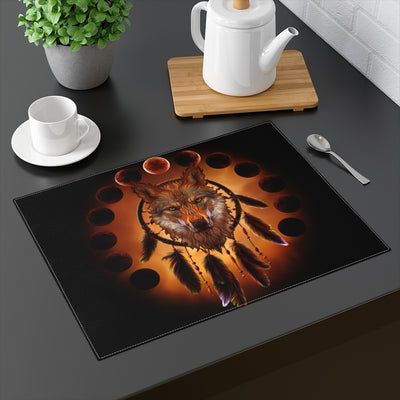 Blood Moon Wolf Placemat