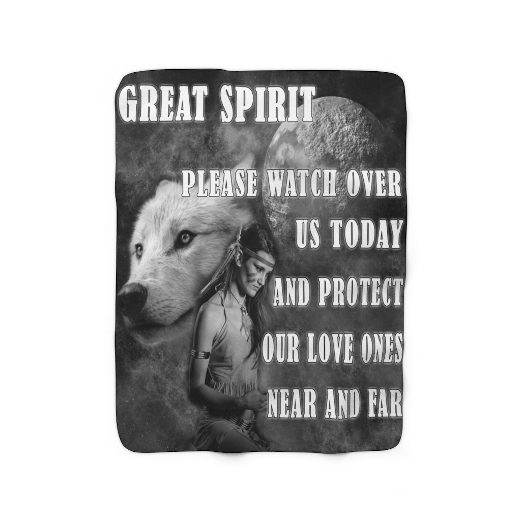 Great Spirit Sherpa Fleece Blanket