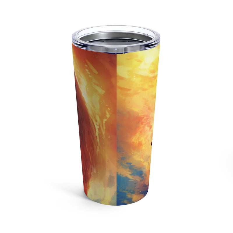 Fire Fox by Jojoes Art Tumbler