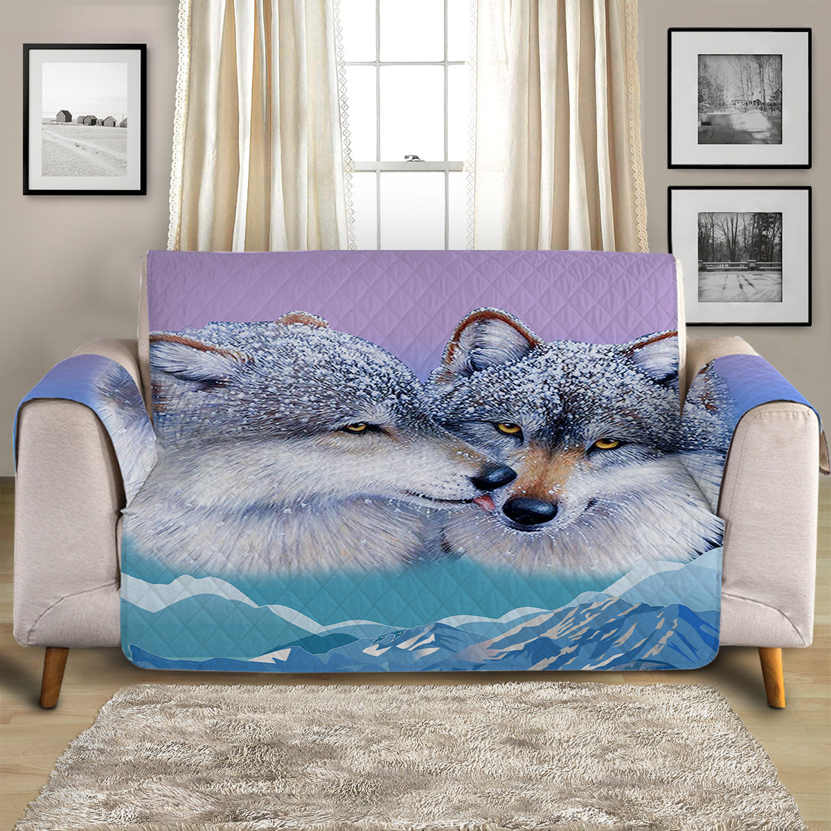 Wolf's Kiss Quilted Cover for Sofa, Chairs, Futons & Recliners