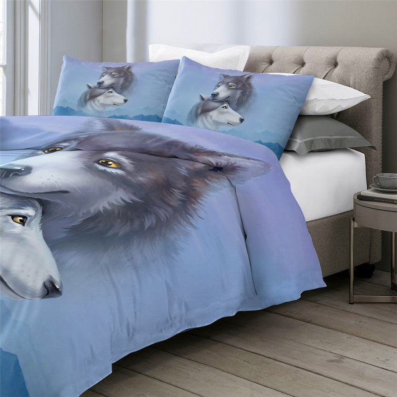 Wolf Couples Bedding Set