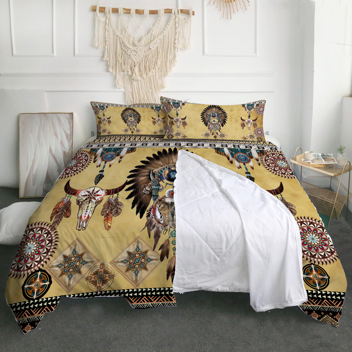 Totem Spirits Zipper Closure Duvet Set