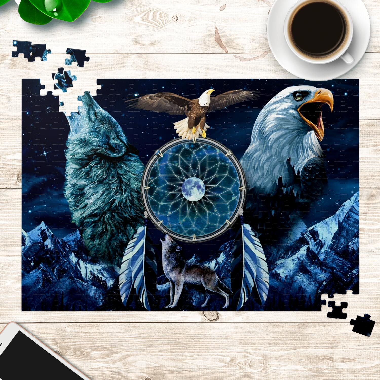 Spirit Animal Dreamcatcher Jigsaw Puzzles