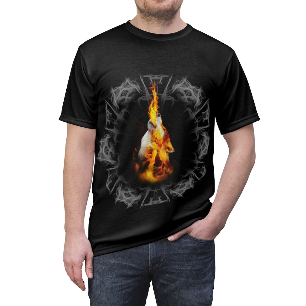 Fire Blazing All Over Print T-shirt