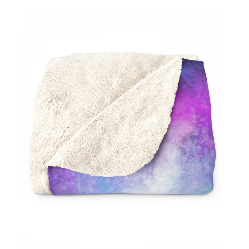 Wolf Amongst Us Purple Sherpa Fleece Blanket