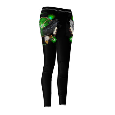 Day and Night Green All Over Print Leggings