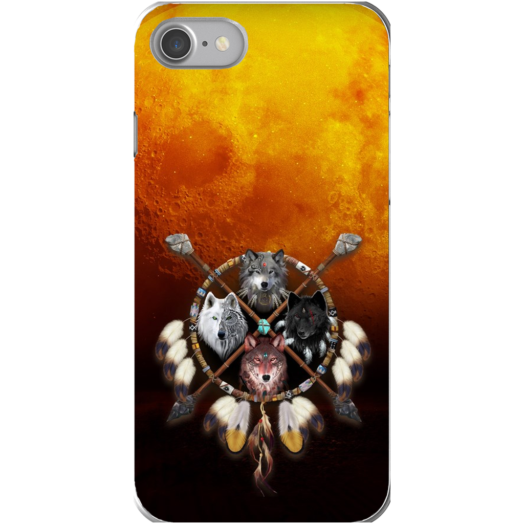 4 Wolves Warrior Dark Phone Cases