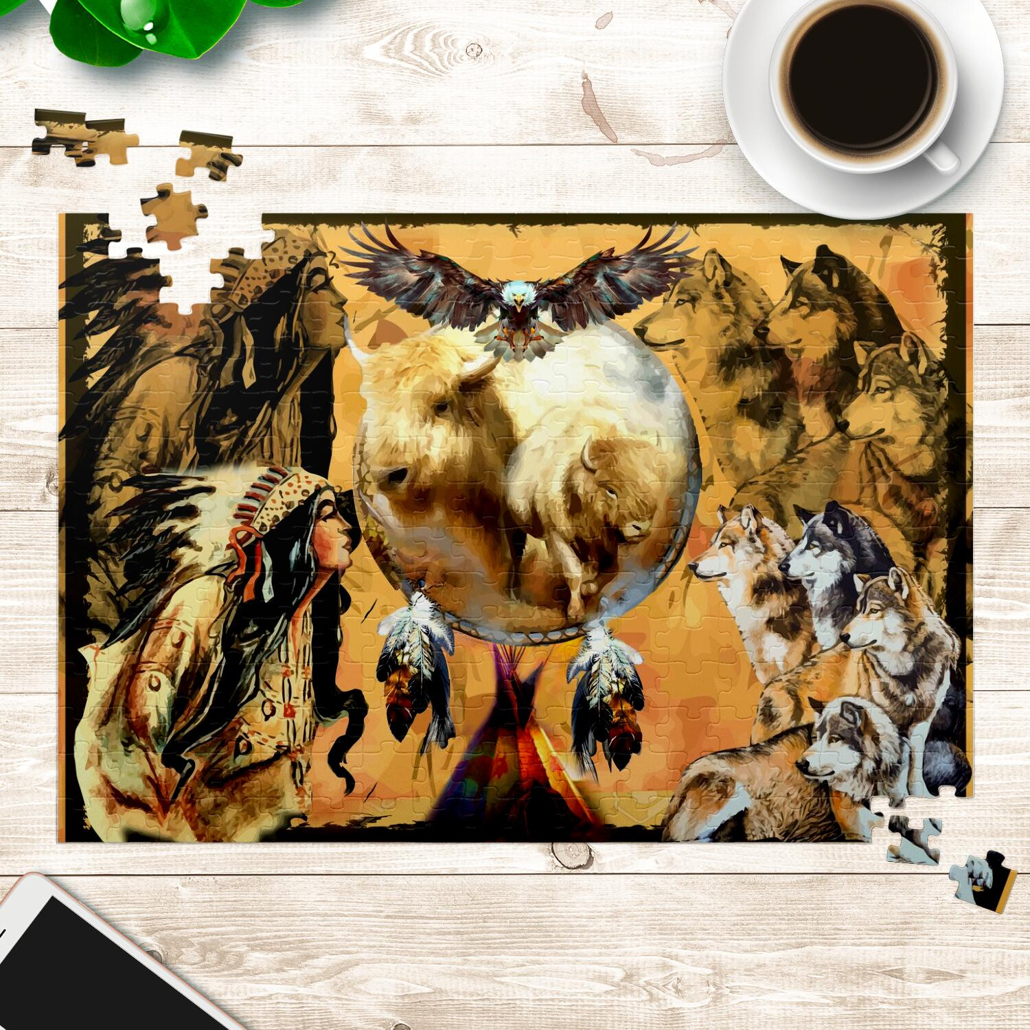 Buffalo Dreamcatcher Jigsaw Puzzles