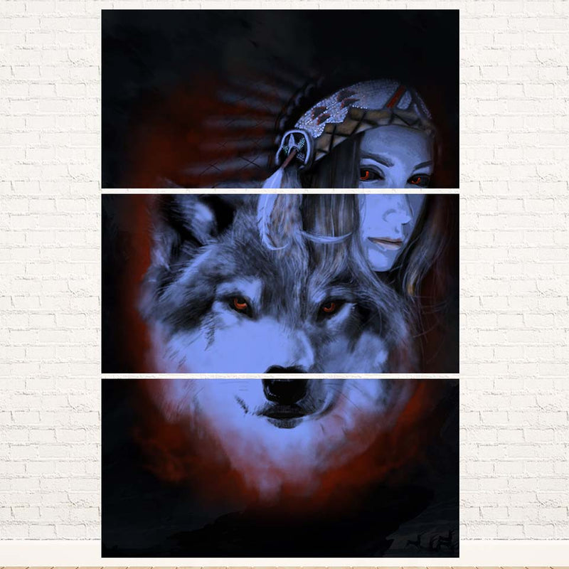 My Wolf My Spirit 3PC Canvas
