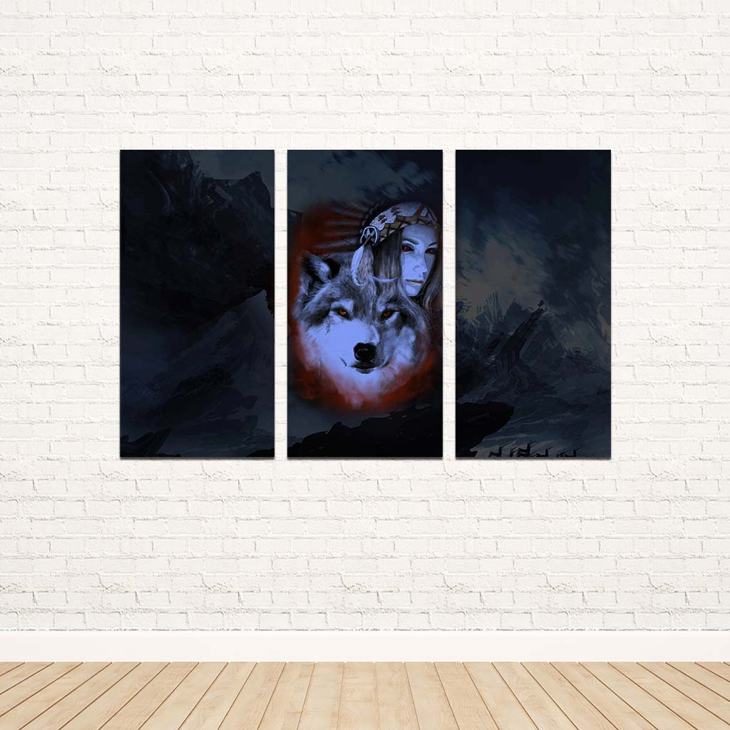My Wolf My Spirit 3PC Canvas V