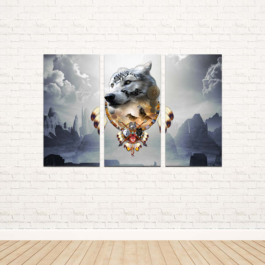 Songs of the Elder Warrior 3PC Canvas V Dark