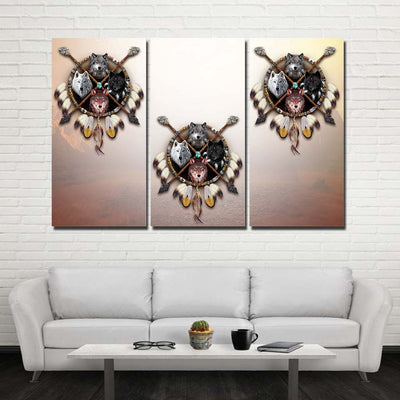 4 Wolves Warrior 3PC Canvas V