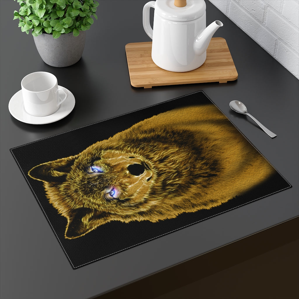 Brilliance Wolf Yellow Placemat