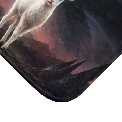 The Lamb and the Dragon by Jojoes Art Bath Mat