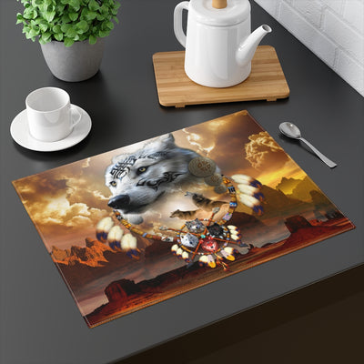 Song Of The Elder Warrior Yellow Placemat