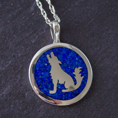 925 Howling Wolf Jewelry - Custom Stone Selection