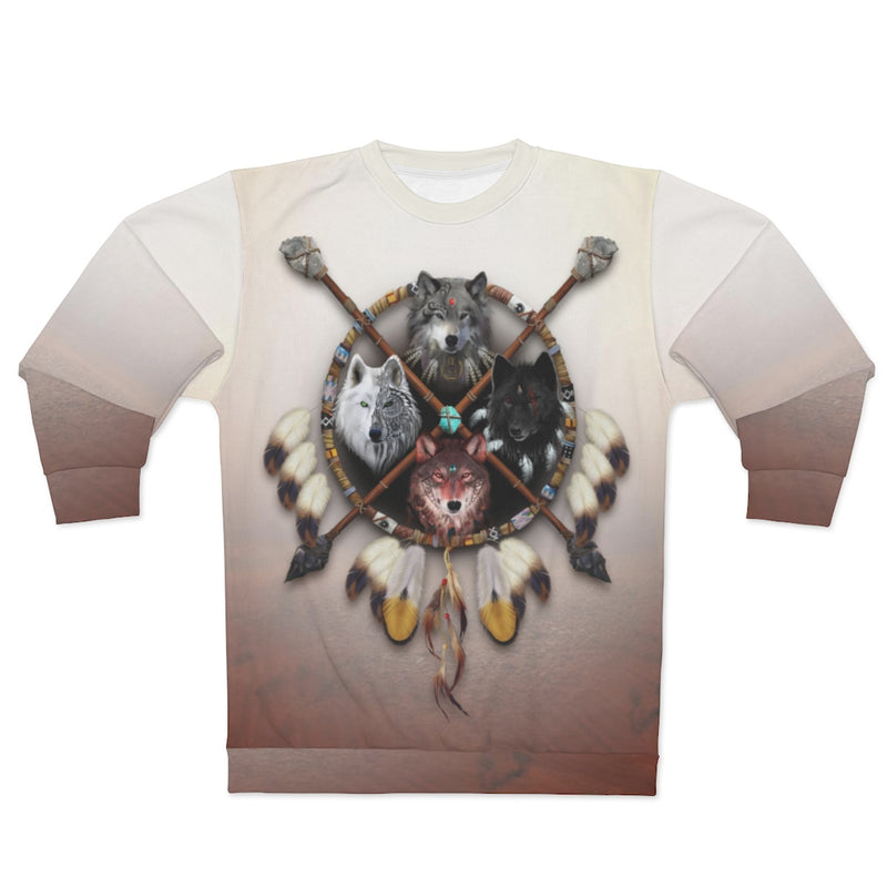4 Wolves Warrior Light All Over Print Sweatshirt