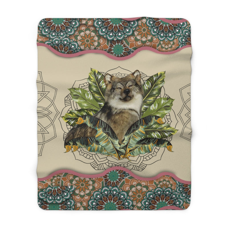 Forest Guardian Sherpa Fleece Blanket