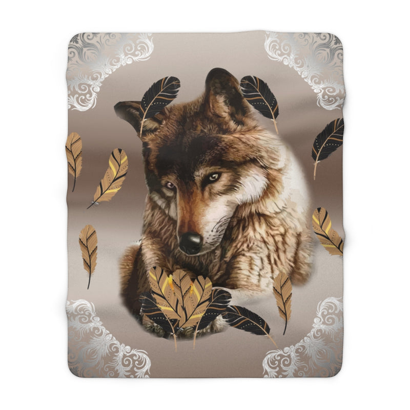 Wolf Love Sherpa Fleece Blanket