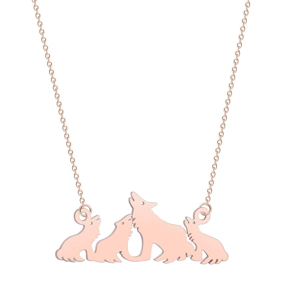 WOLF PACK PENDANT NECKLACE