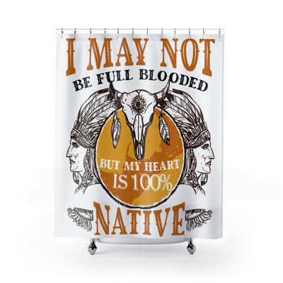 100% Native Heart Shower Curtains