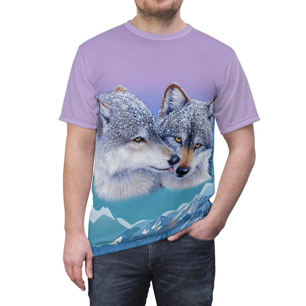 Wolfs Kiss All Over Print  T-shirt