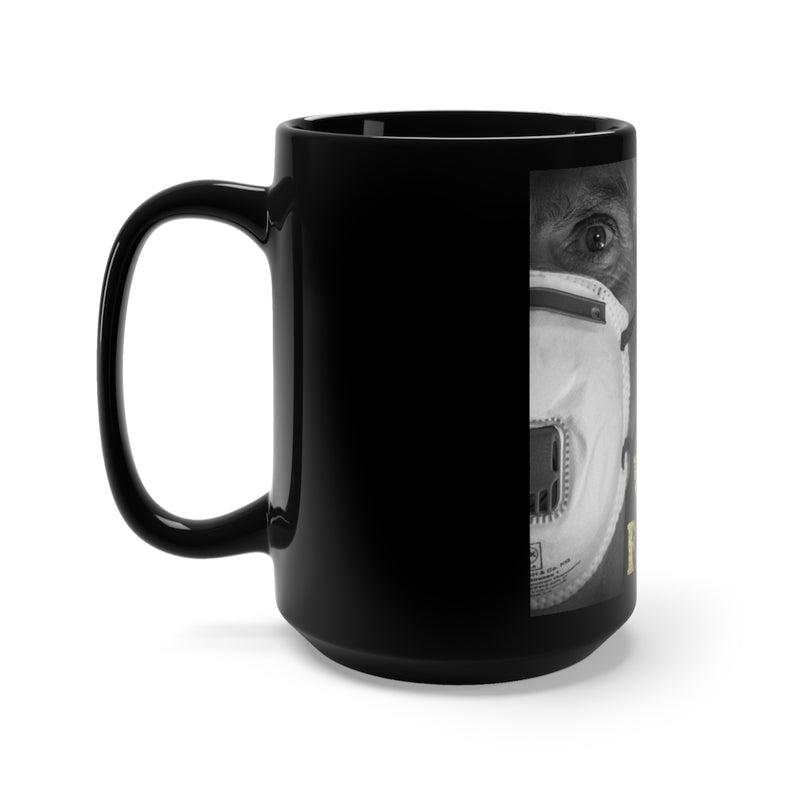 Some Wear Face Mask Black Mug