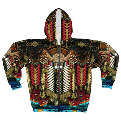 Wise Owl All Over Print Zip Hoodie