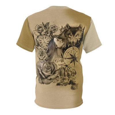 Wolfs Memories All Over Print  T-Shirt