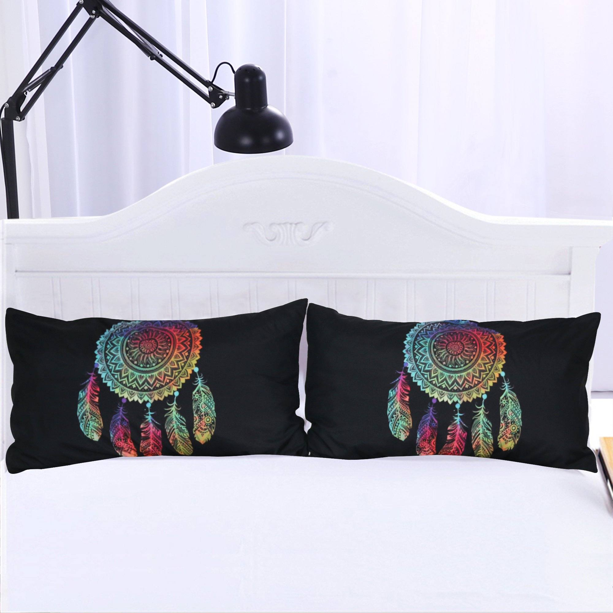 Rainbow Dreamcatcher Pillowcases- Set of 2