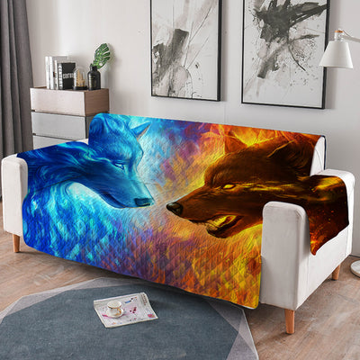 Fire And Ice Quilted Sofa Cover