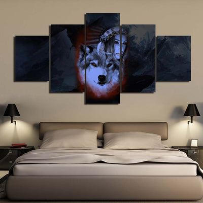 My Wolf My Spirit 5PC Canvas