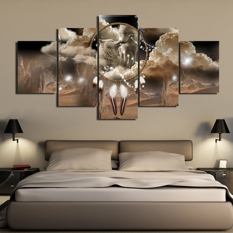 King and Queen of Dreams 5PC Canvas