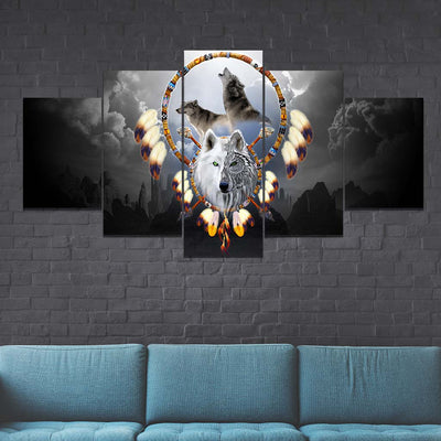 Omega Wolf 5PC Canvas