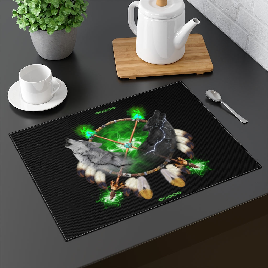 Day And Night Green Placemat