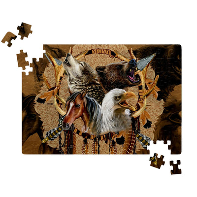 Totem Warriors  Jigsaw Puzzles